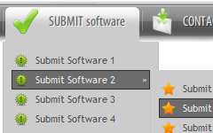 WinXP Button Images Flash Xml Two Column Menu