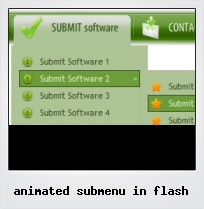 Animated Submenu In Flash