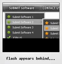 Flash Appears Behind Javascript Navigation