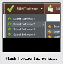 Flash Horizontal Menu Animated Scroll Tutorial
