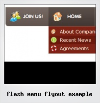 Flash Menu Flyout Example