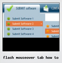 Flash Mouseover Tab How To