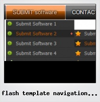 Flash Template Navigation Menu