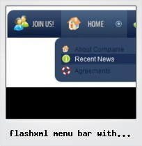 Flashxml Menu Bar With Submenus