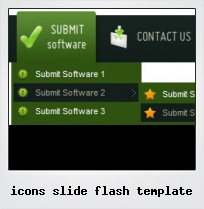 Icons Slide Flash Template