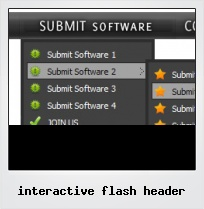 Interactive Flash Header