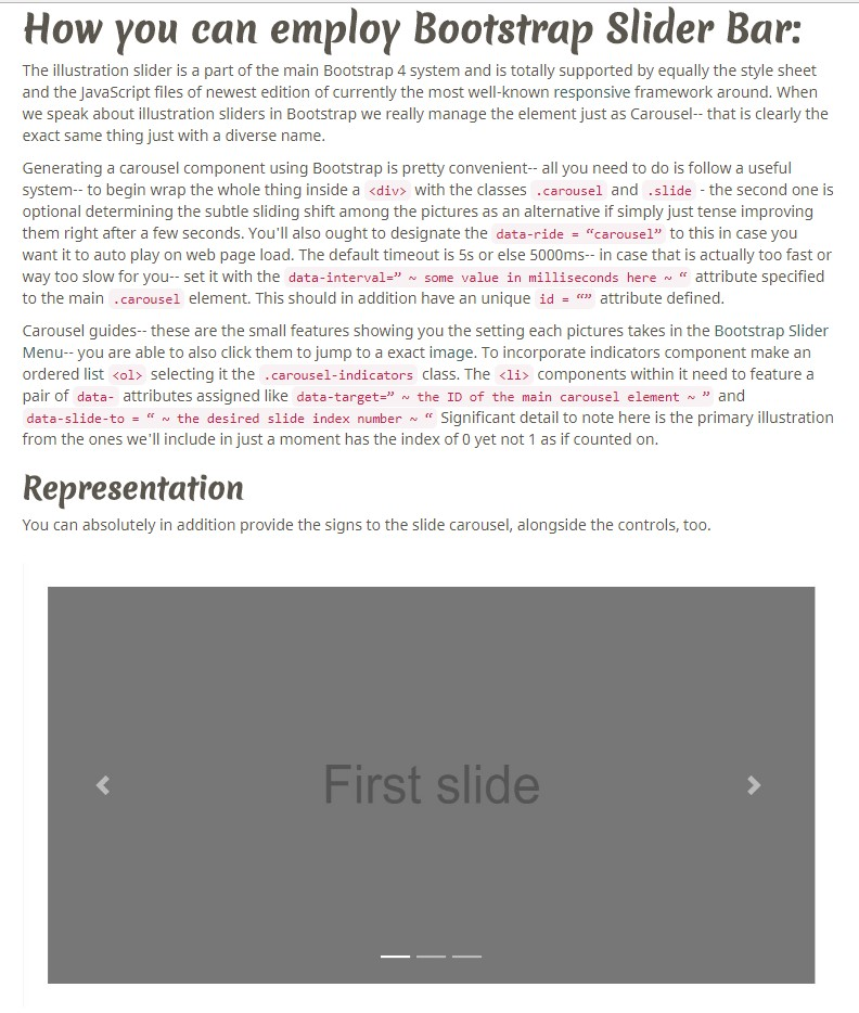 Bootstrap Responsive Slider Free Download