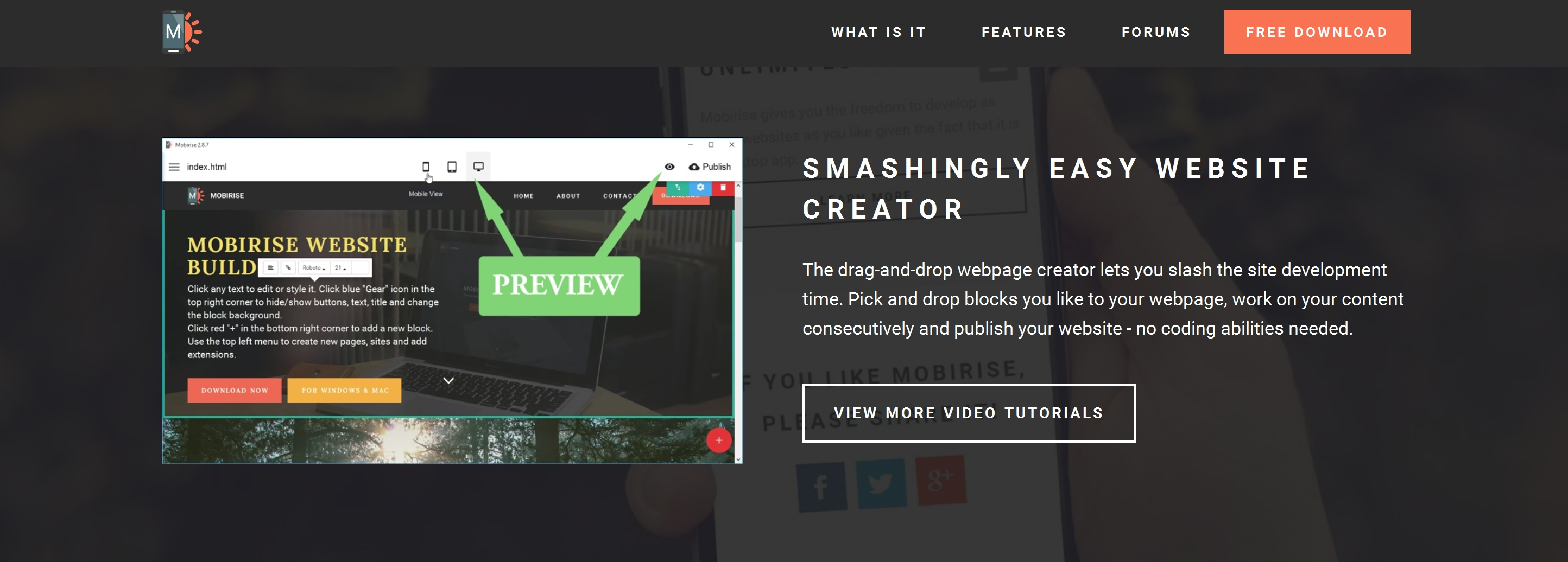 Fast and Easy Website Creator
