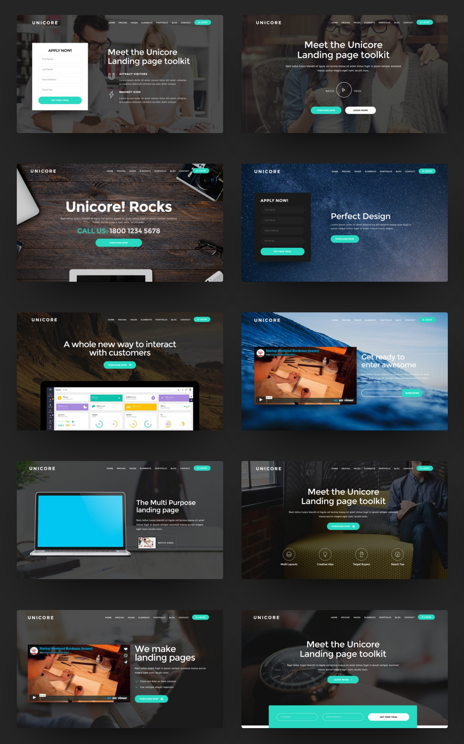 Best Bootstrap One Page Theme