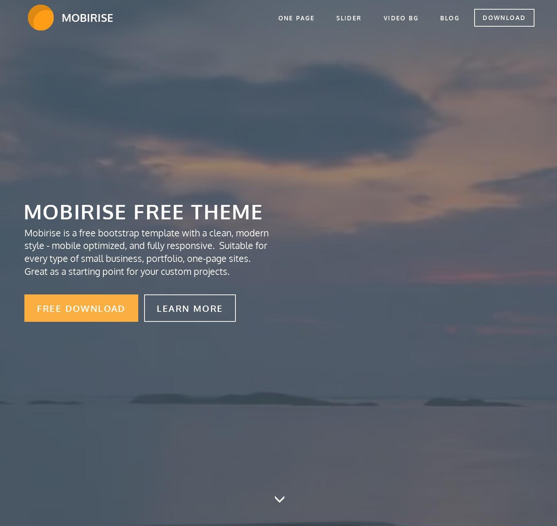 Free Bootstrap Basic Theme
