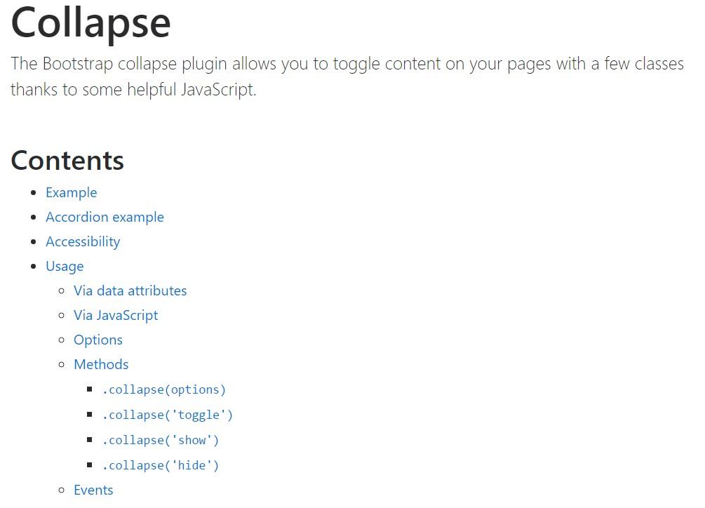Bootstrap collapse  authoritative documentation