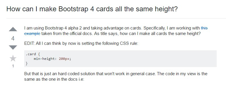 Insights on  just how can we  establish Bootstrap 4 cards just the same tallness?