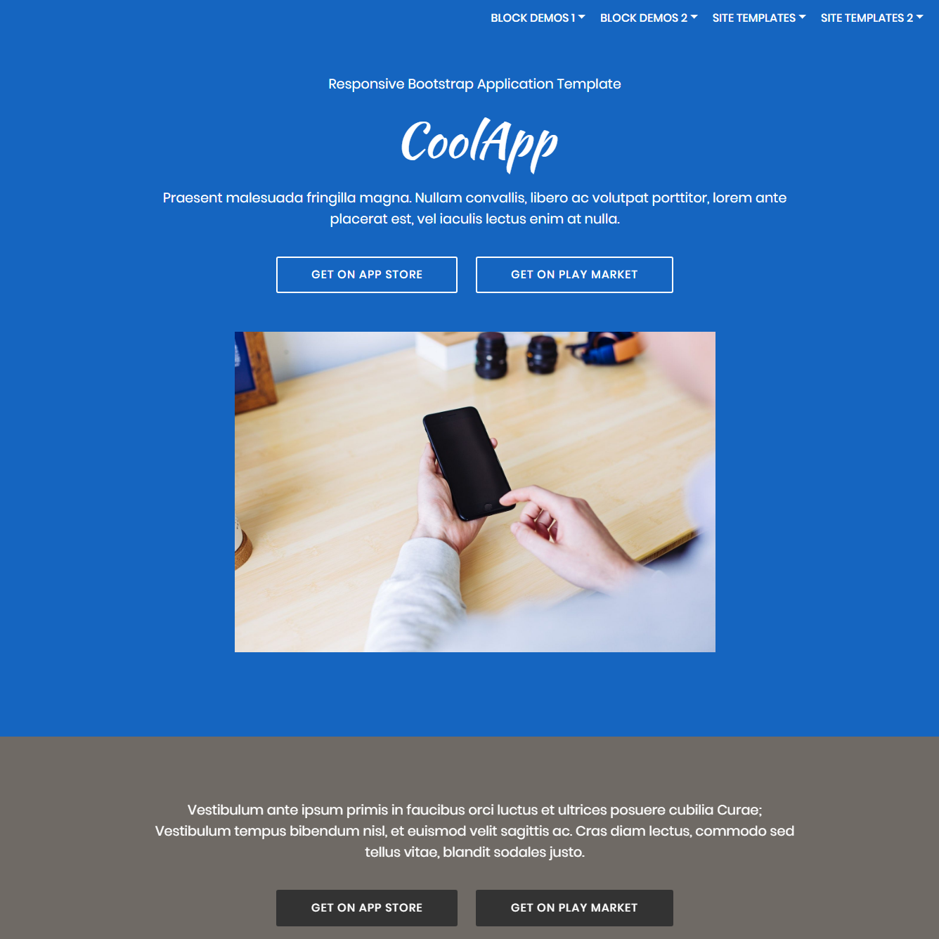 HTML Bootstrap Application Templates