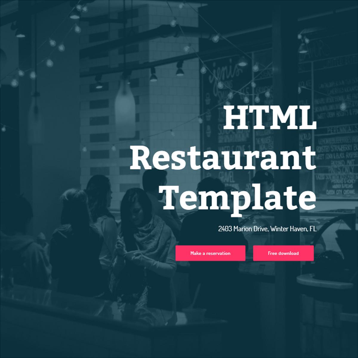 HTML5 Bootstrap Restaurant Templates