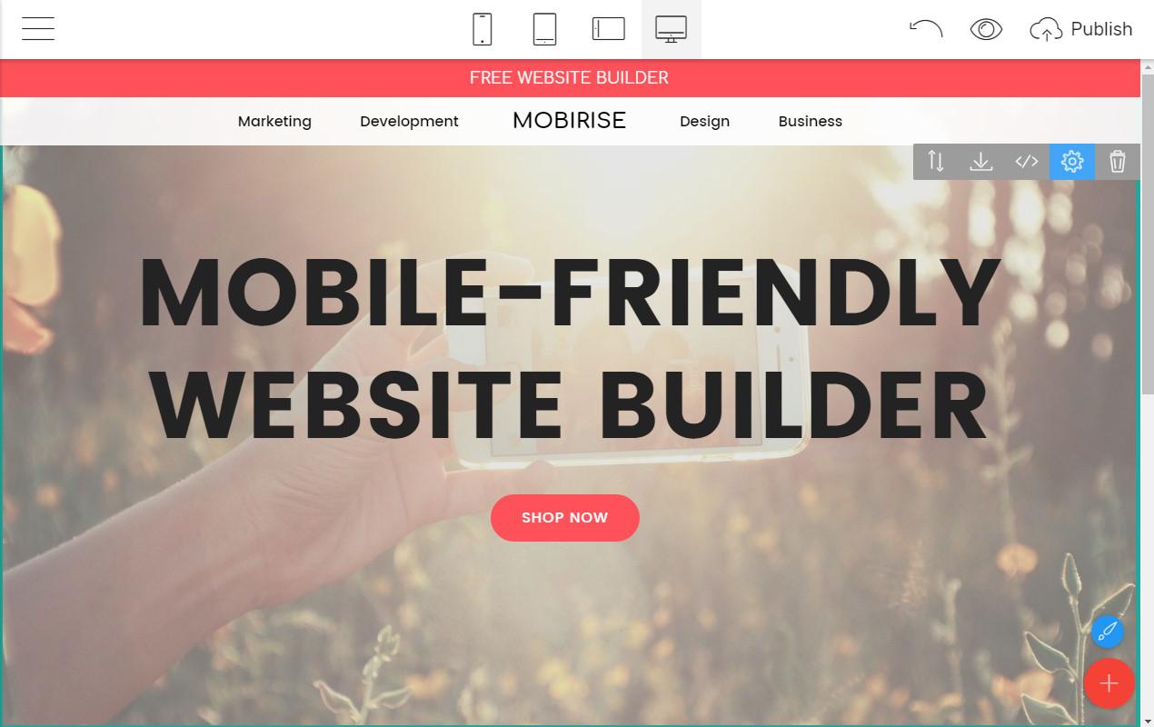 Responsive Webpage Builder