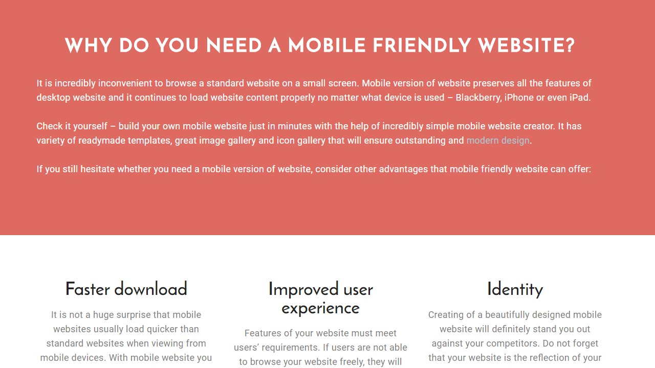 Beautifully Designed Mobile Templates